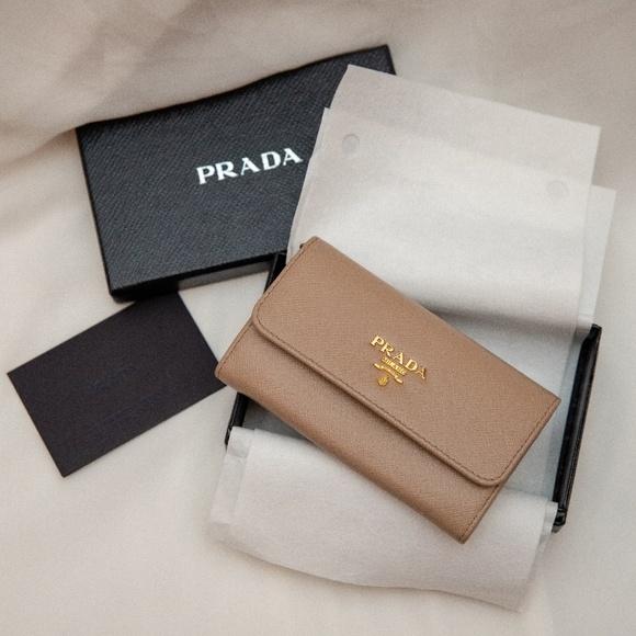 78b08dfcbd2e01 Prada - Small Saffiano Leather Wallet (Cammeo). M_5bfa0faffe5151efc9aaa2a8